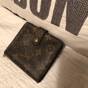 Authentic Louis Vuitton wallet zip coin pocket